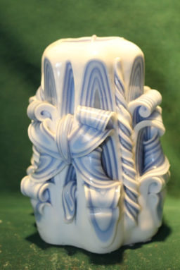 Carved - Janelle's Blue Bow 5in
