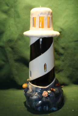 Lighthouse - Yellow Glow Black Stripe 12in